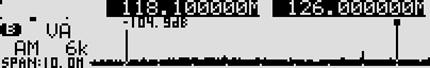 オフセット2波同時受信でのスコープモード