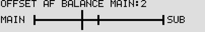 メインとサブの受信音量は、バランス調整が可能