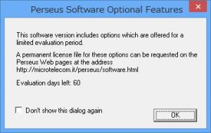 PerseusSoftwareWarning