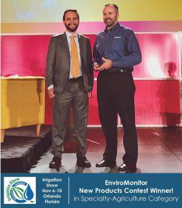 Chris Sullivan prized EnviroMonitor at Irrigation Show 2017