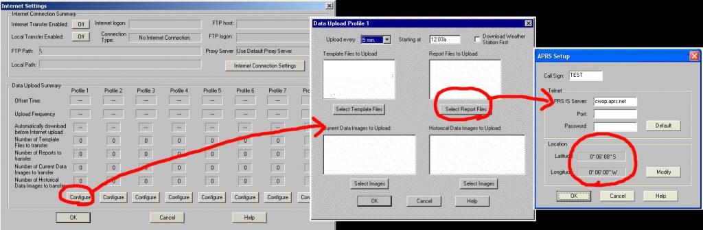 WeatherLinkでの APRS 設定方法