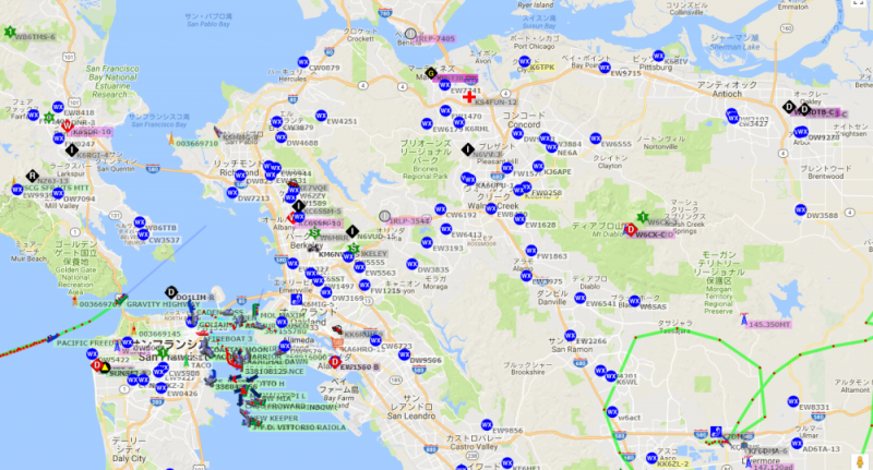 Google Maps APRS SF