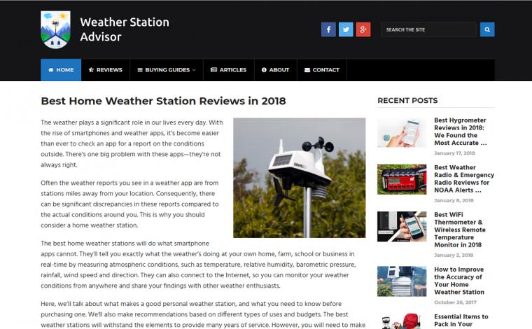 Weather Station Advisor