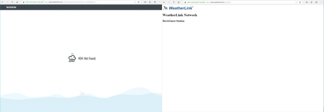 WeatherLink エラー