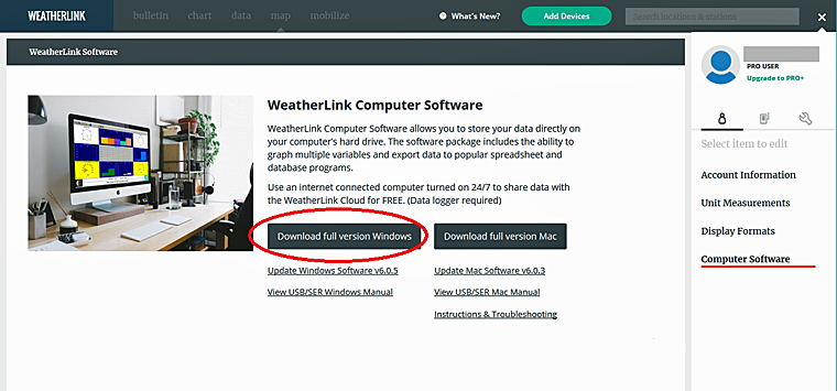 ウェザーリンク・ソフトウェア 6.0.5