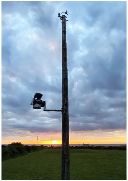 ランズエンドの風力センサーとISS